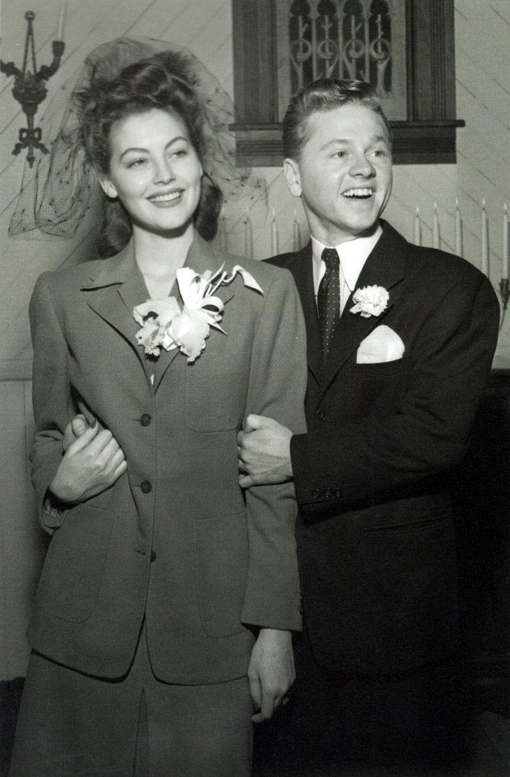 1942. Свадьба Авы Гарднер и Микки Руни