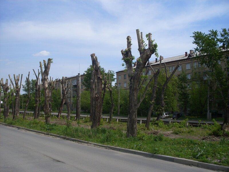 Городской пейзаж. Шоссе Металлургов.