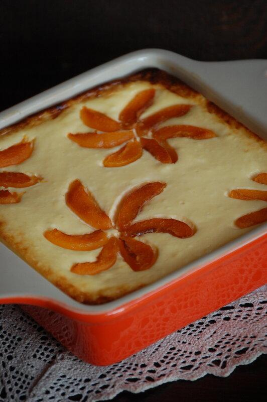ленивый чизкейк с абрикосами