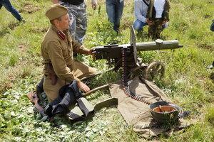 Пулеметчик. 22 июня, реконструкция начала ВОВ в Кубинке (2 часть)