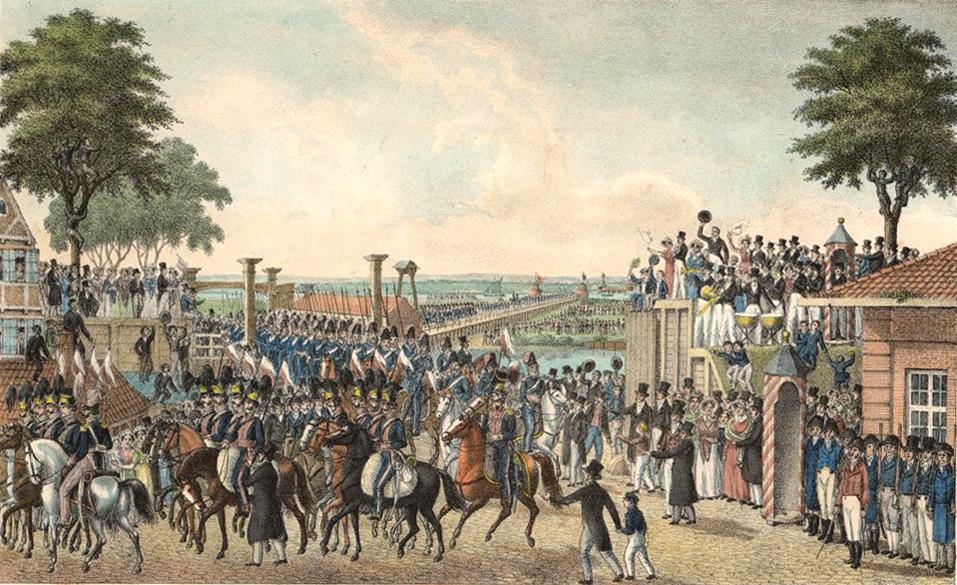 30-06  Einzug der hanseatischen Legion in Hamburg, nach der Ruckkehr aus dem Befreiungskriege am 30sten Juny 1814.jpg