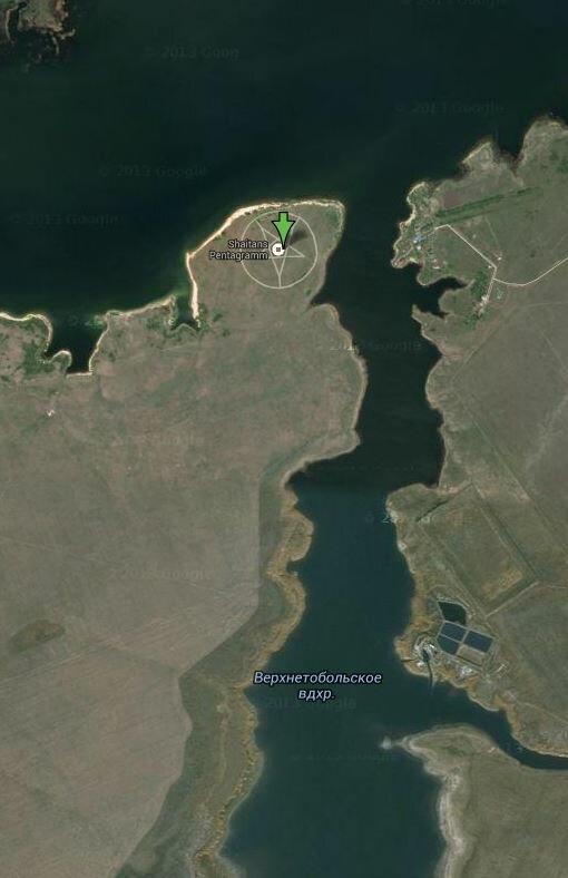 Пентаграмма в Казахстане - 52.479761,62.18605