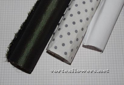 ПВС и желатин для цветов из ткани и кожи.