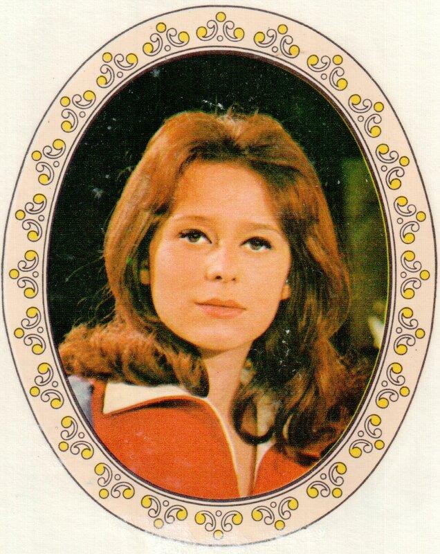 Переводная картинка из ГДР девушка Helga Cuckova 1973