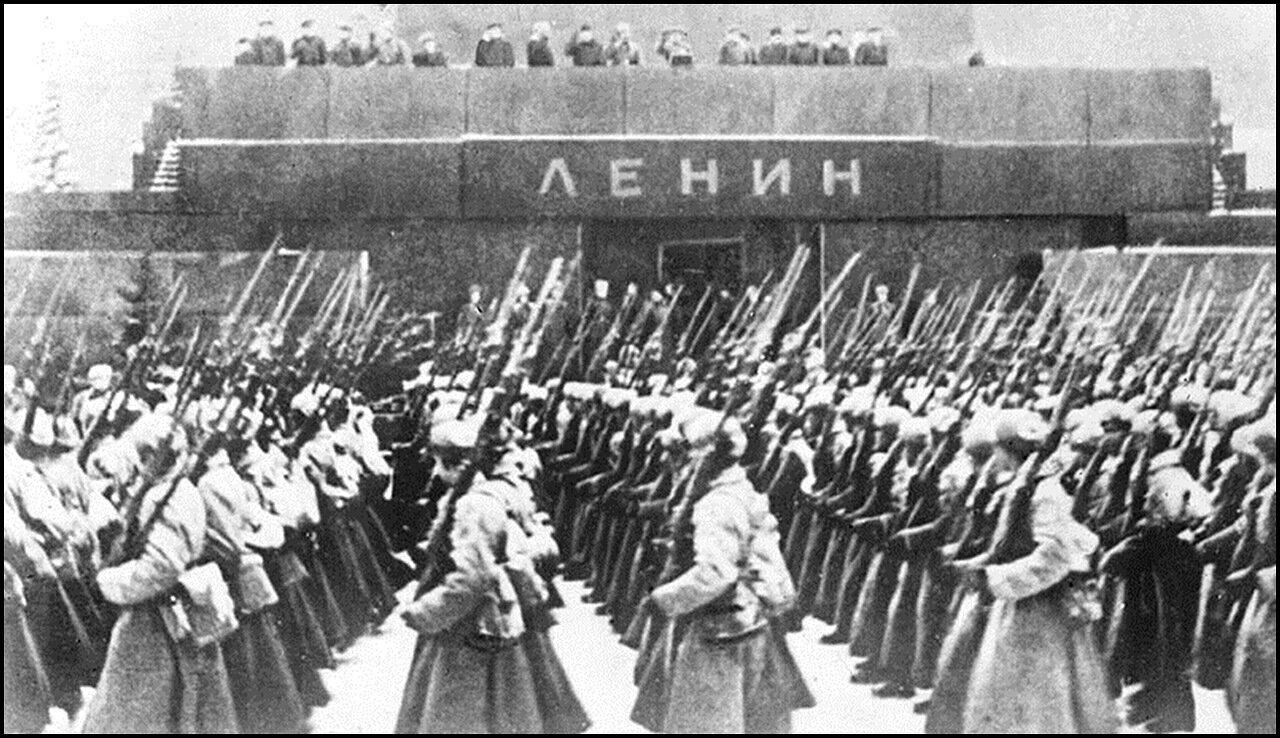Военный парад 7 ноября 1941 года, Москва.