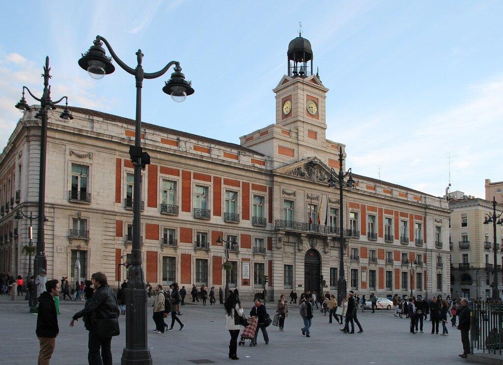 Вечерний Мадрид. Площадь Пуэрта-дель-Соль