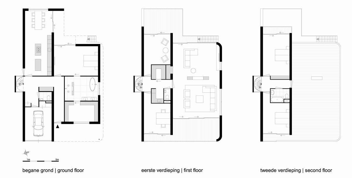 Maxim Winkelaar Architects, Bob Ronday, пристройка к дому, дома в Зутермер, частные дома в Нидерланды, дизайн ванной комнаты, винтовая лестница в частном доме