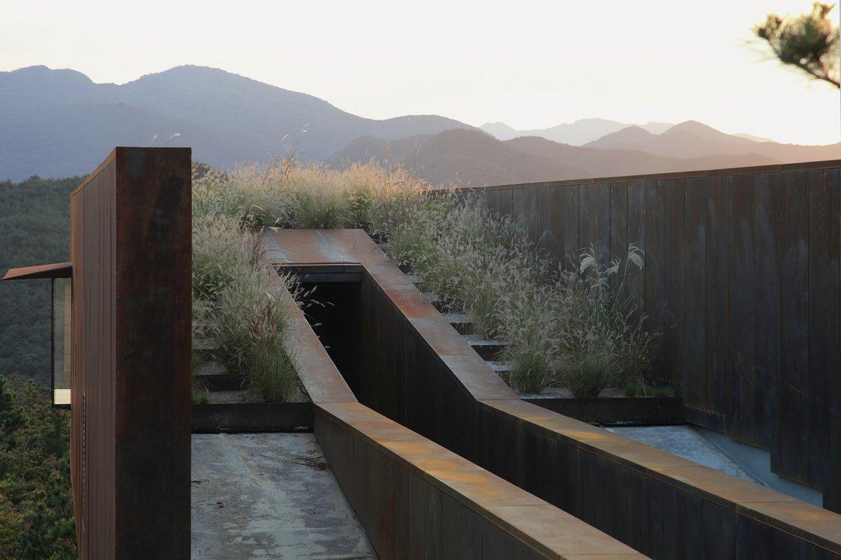 Hyunam, IROJE Architects & Planners, дома в южной корее, дом отшельника, дом для уединения, дом с видом на лес, дом с видом на долину