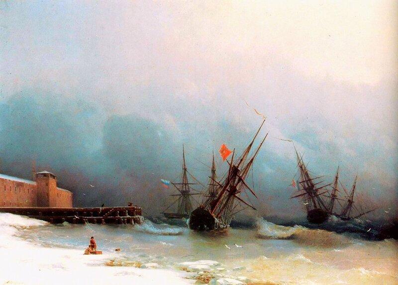 Сигнал бури, Айвазовский, живопись