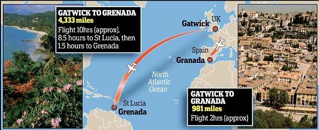 На Карибы вместо Испании из-за опечатки в билете