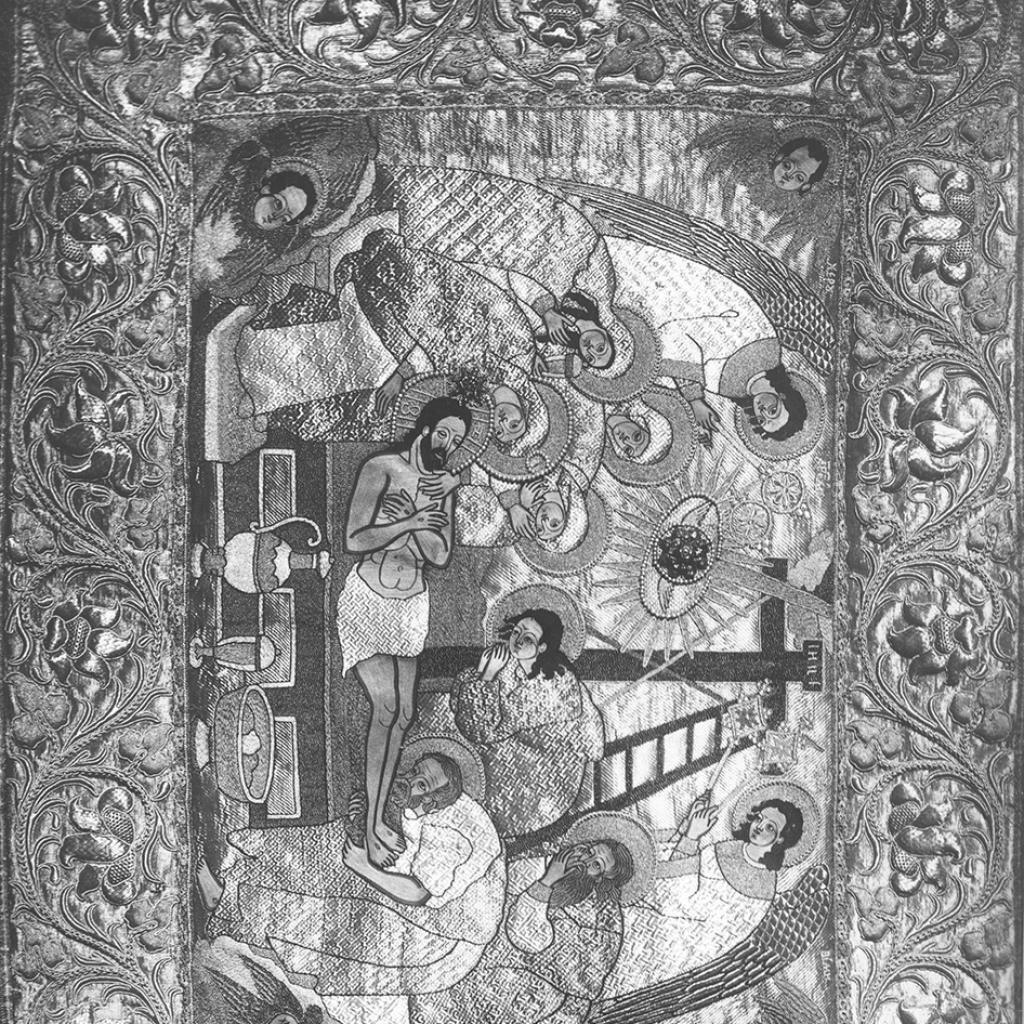 Ризница Троицкого собора. Плащаница, по преданию работы царевны Софьи