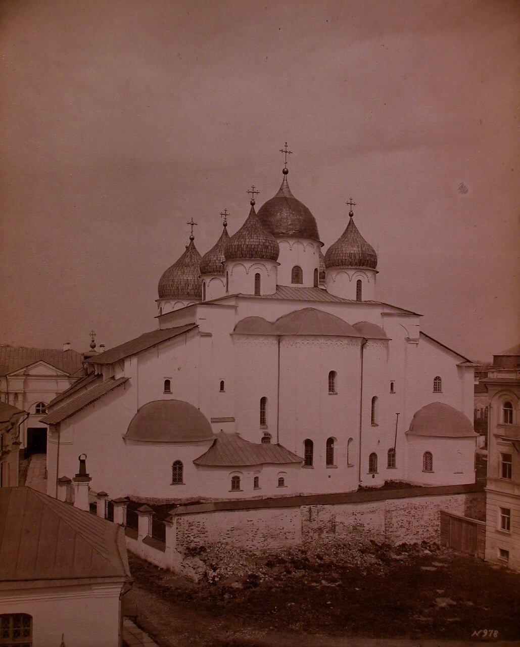 Вид восточного фасада Софийского собора (построен в 1045-1050 гг.)