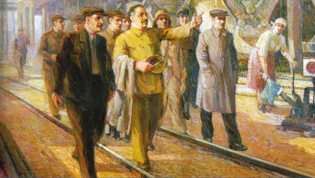 Magnitogorsk. S. Ordzhonikidze at MMK industries. Painter, Georgy Soloviov