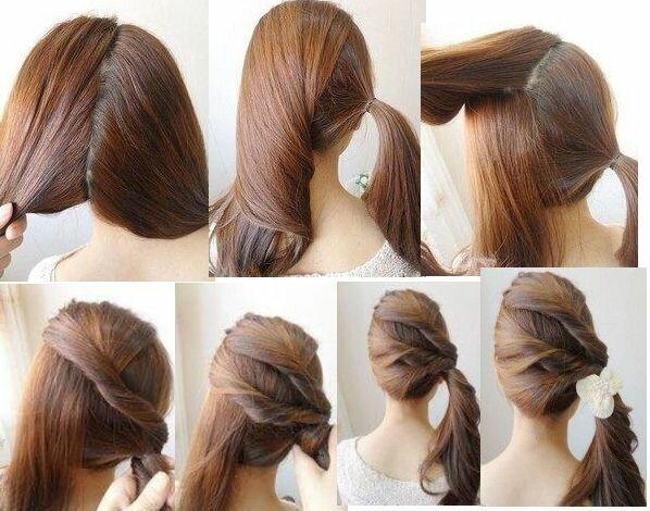 Простая и лёгкая причёска