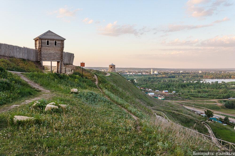 Елабужское городище, лестница.