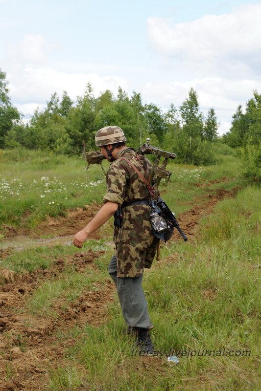 Немецкий парашютист. 22 июня, реконструкция начала ВОВ в Кубинке (2 часть)