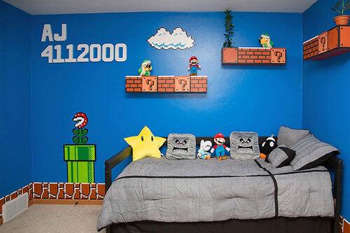 Оформление комнаты в стиле любимой игры