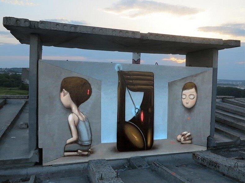стрит-арт, улицы Парижа, seth