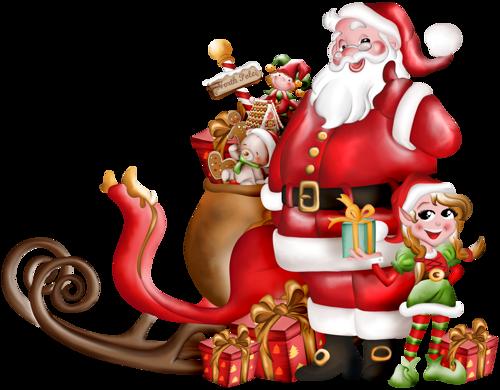С Новым годом! Дед Мороз готов к раздаче подарков открытки фото рисунки картинки поздравления
