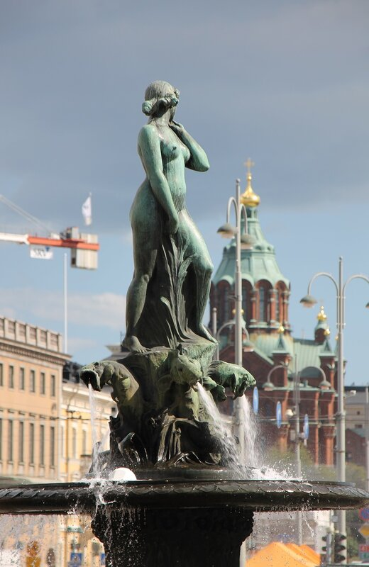 Helsinki. Havis Amanda or 'Shameless Amanda' fountain