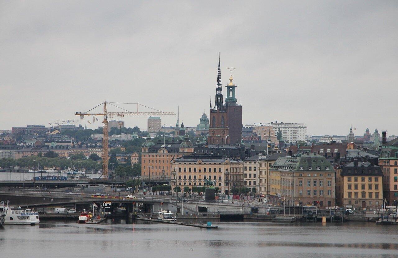 Stockholm, Sodermalm observation desk. Стокгольм. Обзорная площадка Сёдермальм