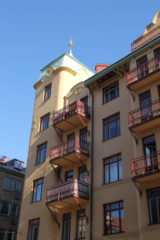 Stockholm. The house-Museum of the August Strindberg. Blå tornet.