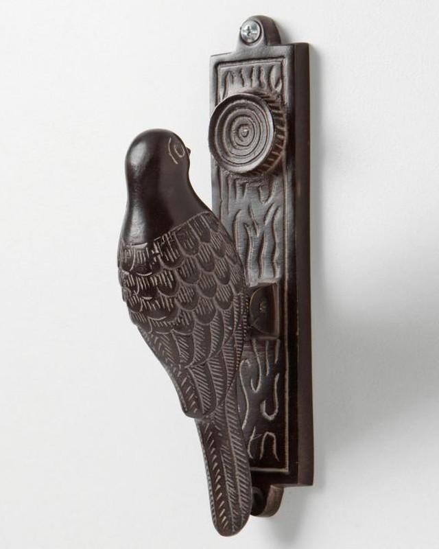 8. Птица Дверная ручка в виде птицы из стали.