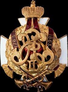 Знак 70-го пехотного Ряжского полка.