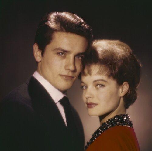 Ален Делон и Роми Шнайдер. Фото: Уолтер Карон (Walter Carone) - 1961 год