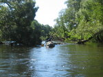 В районе Можайска река не так уж и широка