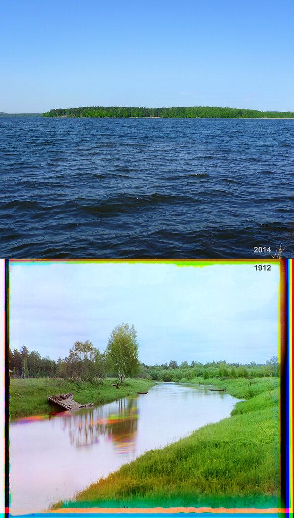 Река Чусовая близ гидрометрической станции у перевала на р. Решотку.