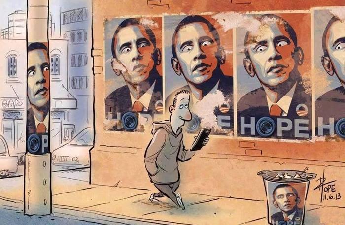 Карикатура на злобу дня: Эдвард Сноуден VS Барак Обама