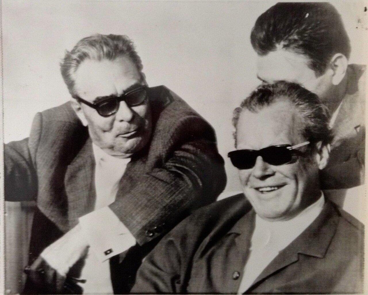 Леонид Ильич Брежнев и Вилли Брандт. ФРГ. 1971