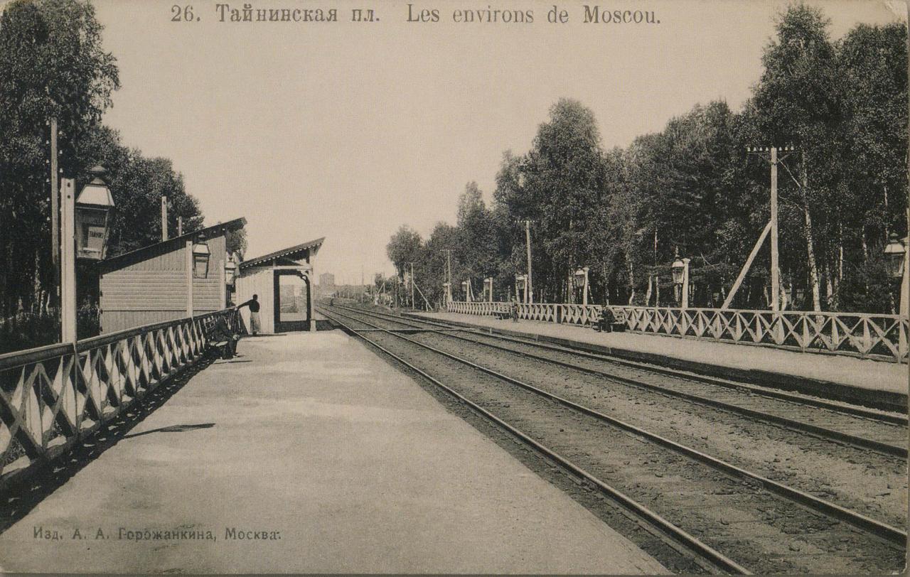 Окрестности Москвы. Тайнинская. Платформа