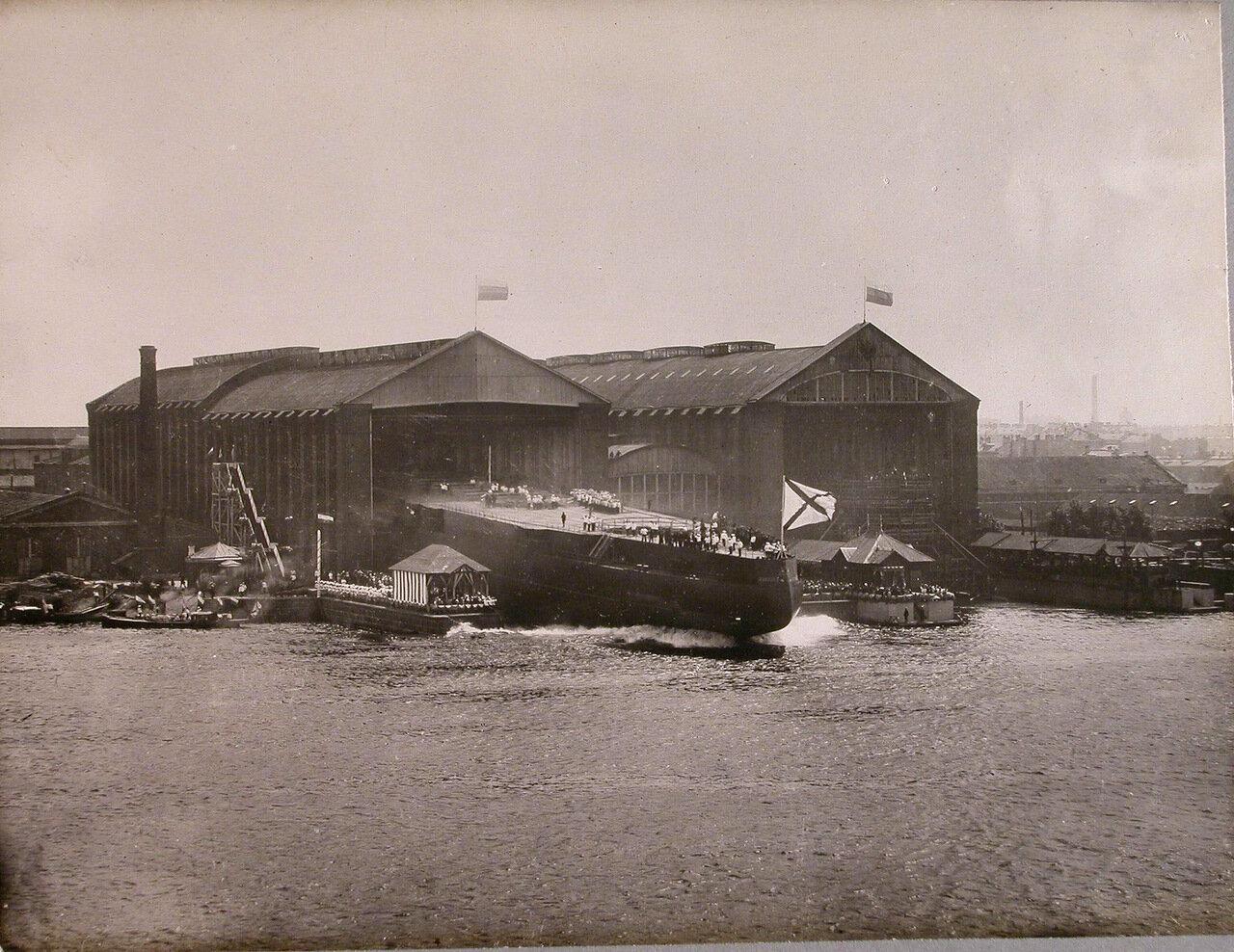 43. Спуск линейного корабля «Полтава» на воду. 27 июня 1911 г.