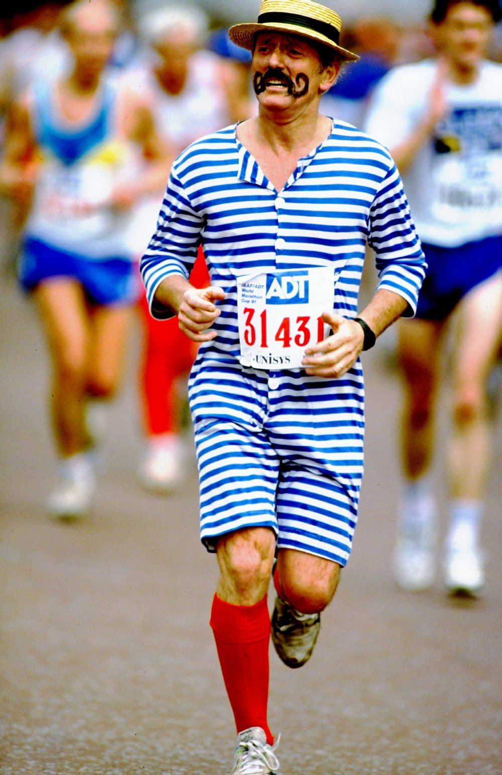 A fun runner in fancy dress
