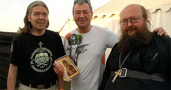 Юрий Агещев, Ян Гиллан (Deep Purple), игумен Сергий (Рыбко)
