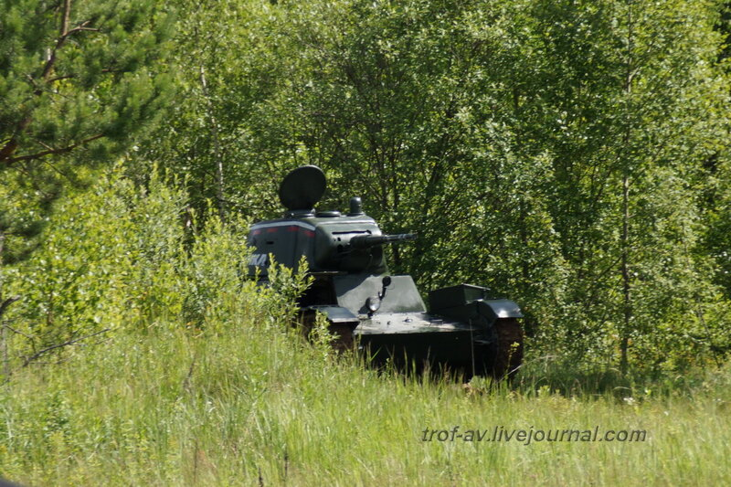 Т-26 в засаде. 22 июня, реконструкция начала ВОВ в Кубинке (2 часть)