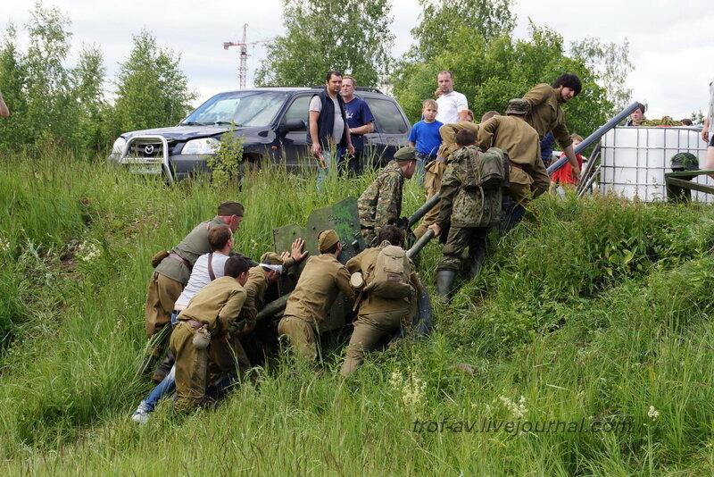 Тяжелая служба артиллеристов. 22 июня, реконструкция начала ВОВ в Кубинке (2 часть)