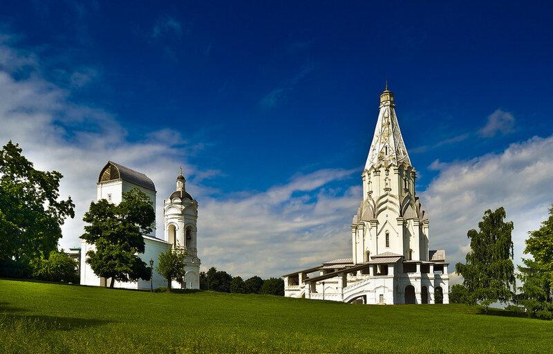 Парк Коломенское в Москве - церковь Вознесения Господня