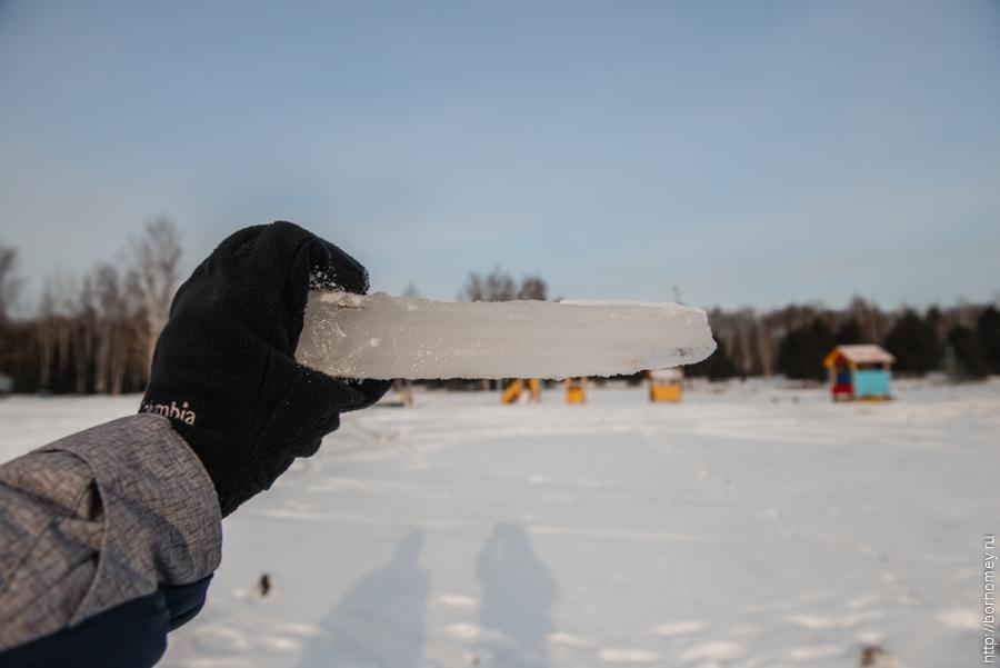 толщина льда на саровских озерах