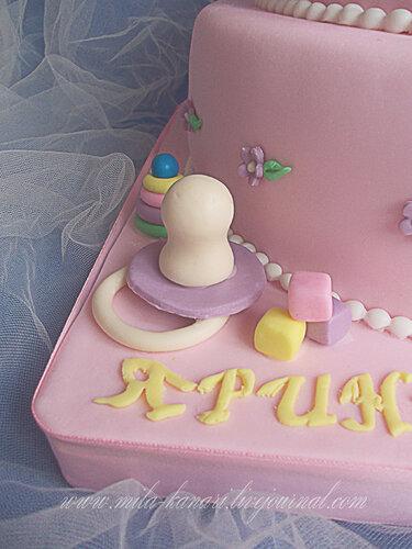 Торт с мишкой, зайкой и пустышкой - Кулинарный романс