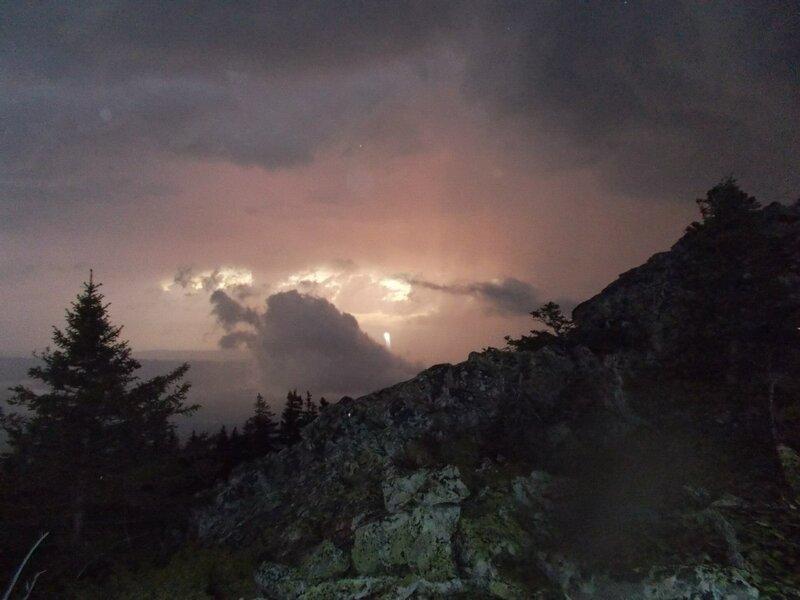 Закат на вершине хребта (23.07.2013)