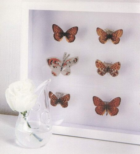 Бабочки крестиком