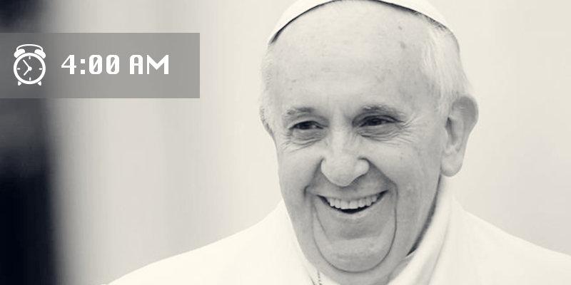 Проснувшись в 4:30 утра, он проводит первые 2 часа, погрузившись в молитву и чтение Священного П