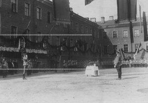 Парад полка в день празднования 100-летнего юбилея Кульмского боя.