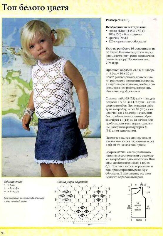Вязание спицами детей лето