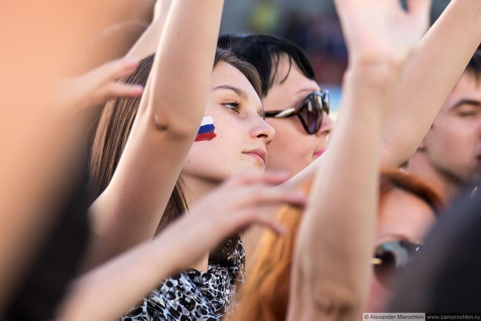 Зрители фестиваля FIFA Fan Fest в Саранске