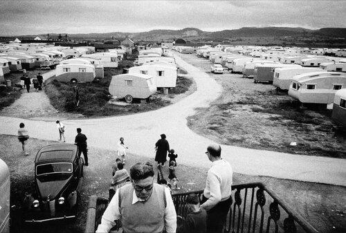 North Wales. Caravan camp. 1961