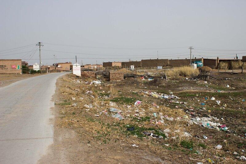 мусор в долине Хэтао, Внутренняя Монголия, Китай